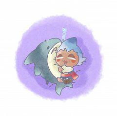 Sorbet Shark Cookie