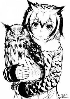 Eurasian Eagle Owl (Kemono Friends)