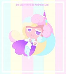 Cream Unicorn Cookie