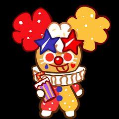 Popcorn Cookie (Funny Clown)