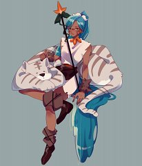 Tiger Lily Cookie (Snow Warrior)